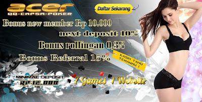 acerpoker BandarQ Agen Domino QQ Agen Poker Indonesia Bandar Capsa Ceme Domino99