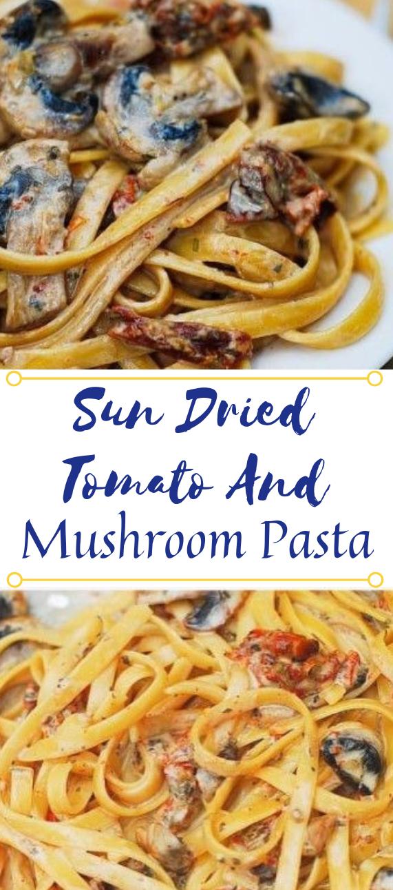 SUN DRIED TOMATO AND MUSHROOM PASTA IN A GARLIC AND BASIL SAUCE #vegan #mushroom #vegetarian #cauliflower #basil