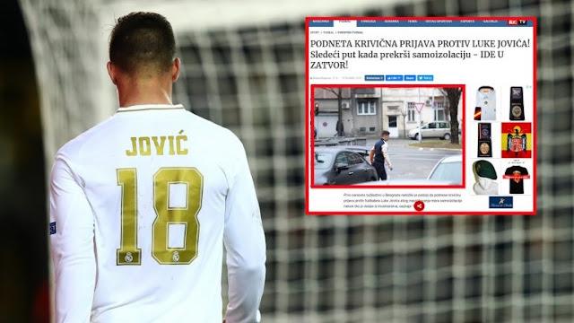 L'attaccante serbo Luka Jović ha violato la quarantena e potrebbe essere incarcerato in Serbia