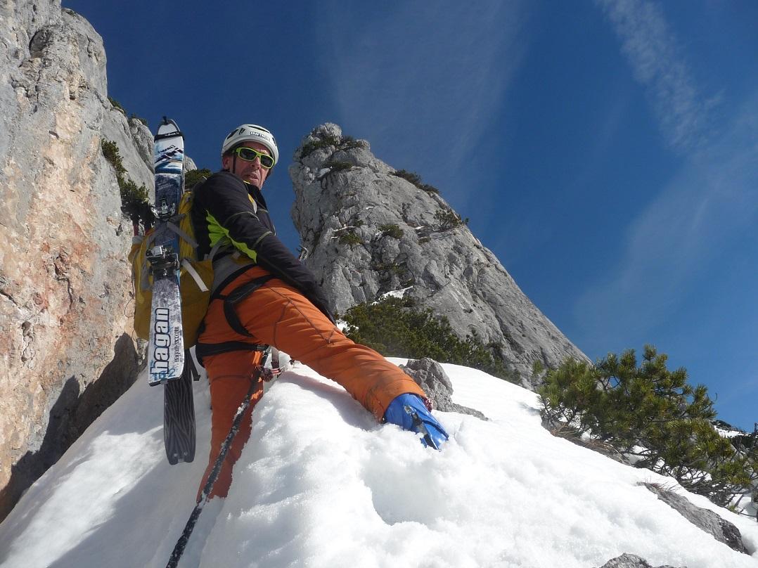 Klettersteig Uk : Bergheimat stoaplattn über n klettersteig
