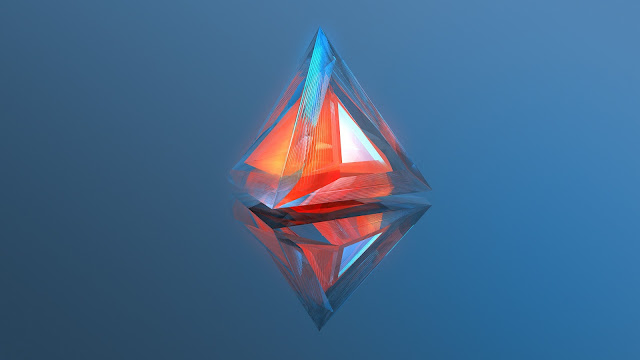 wallpaper triangle geometry 3d digital art