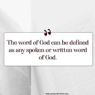 The importance of God's word