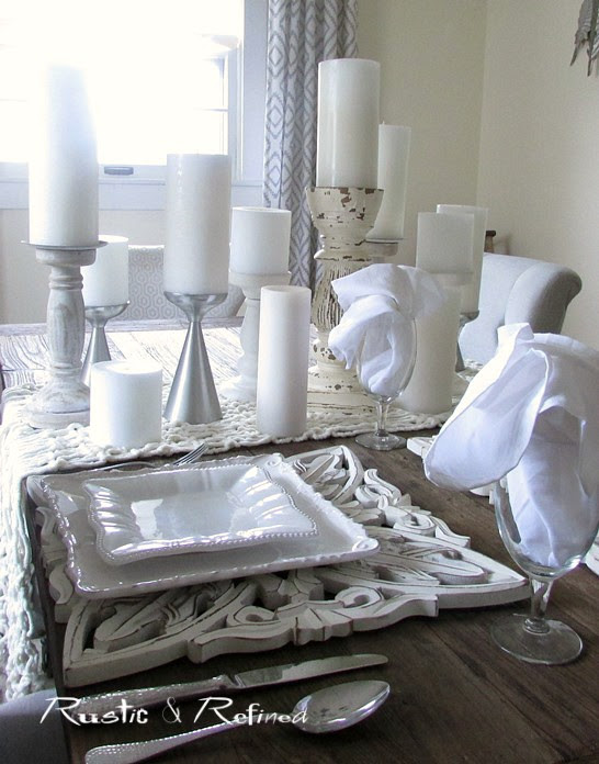 Timeless Decorating - Tablescape Idea using all white for any season or any occasion.