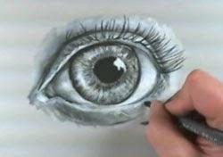 Göz resmi çizim teknikleri -7