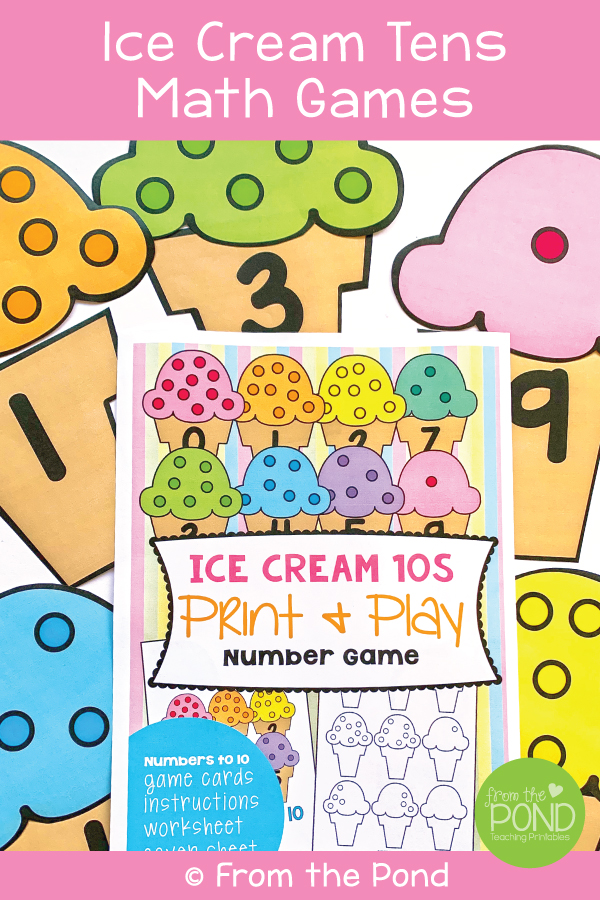Make Ten Ice Cream Game
