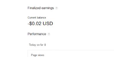 Penjelasan Saldo Earning Minus (Negative Balance) Pada Google Adsense