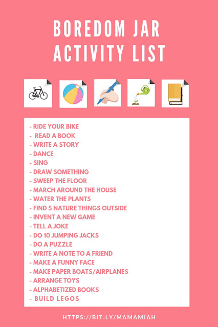 Boredom Jar Activity Lists - Mama Miah