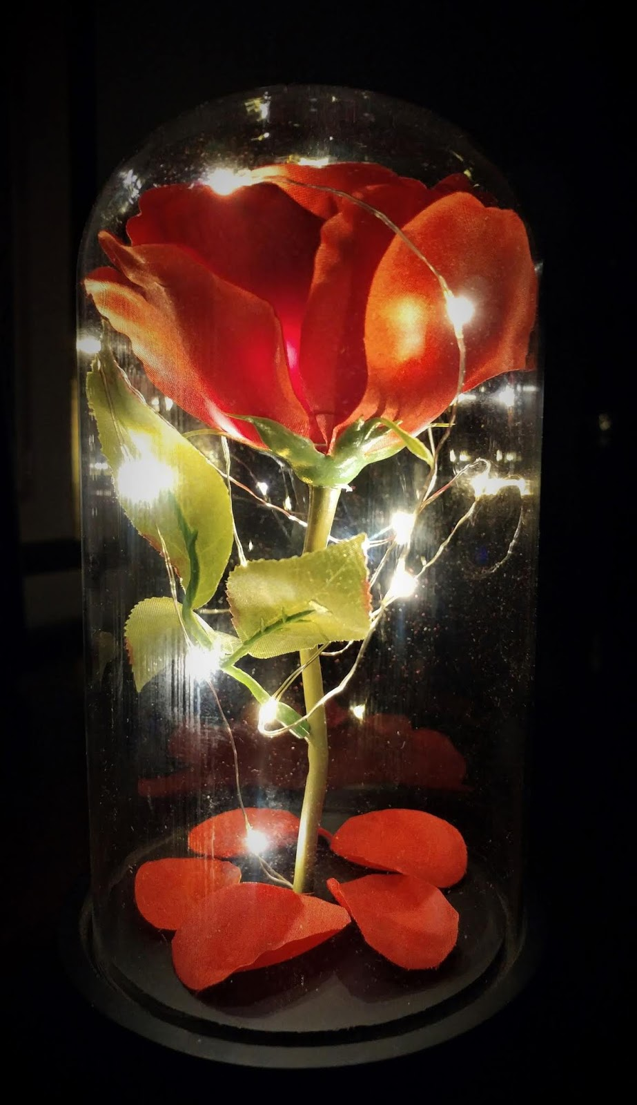 Red LED Rose in dome #giveaway #ad