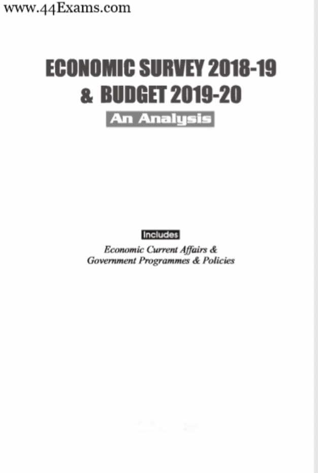 Economic-Survey-2018-19-and-Budget-2019-20-For-UPSC-Exam-PDF-Book