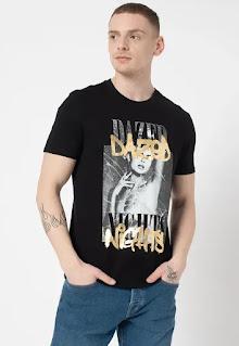 Мъжка Тениска с фотопринт - Guess Jeans