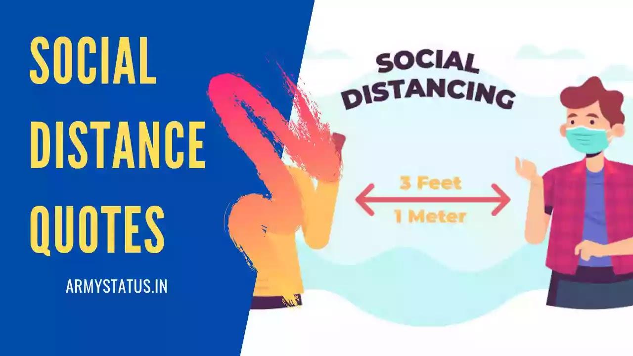 Social Distancing Status in Hindi, Social Distancing Quotes in Hindi