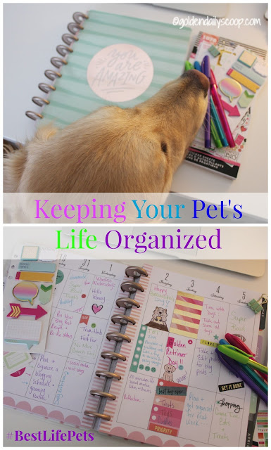 Keeping your Pet's Life Organized with the Happy Planner