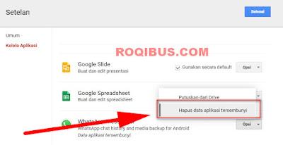 Cara menghapus Backup Whatsapp di Google Drive