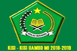 Download Kisi-Kisi UAMBD MI Tahun 2019