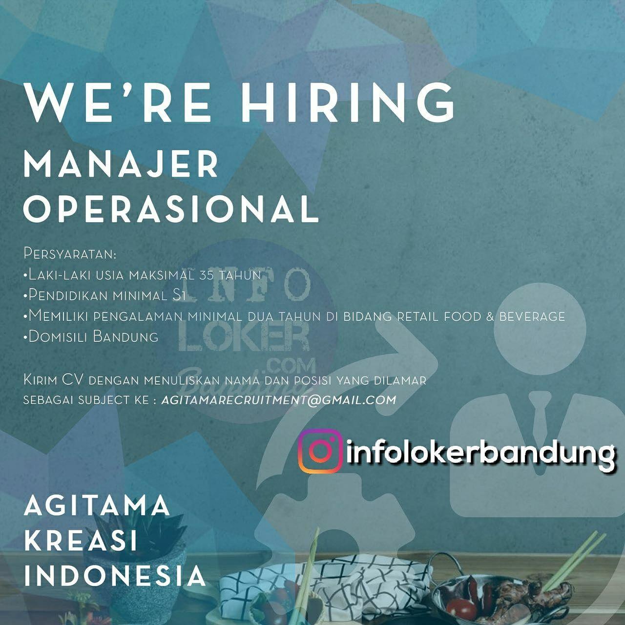 Lowongan Kerja CV. Agitama Kreasi Indonesia Bandung Februari 2018