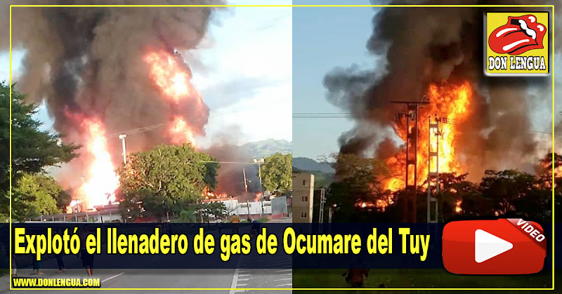 Explotó el llenadero de gas de Ocumare del Tuy