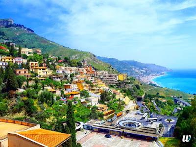 A wonderful view of the town & coastline, Taormina | Sicily, Italy | wayamaya
