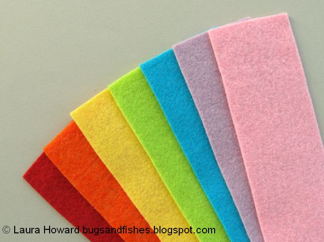 rainbow felt colours