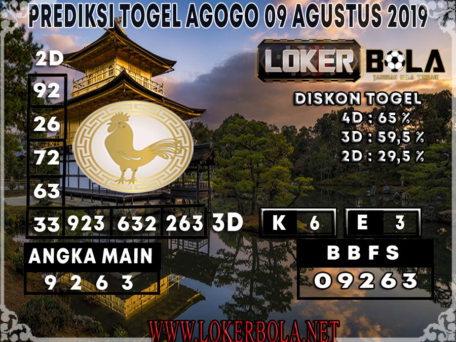 PREDIKSI JITU AGOGO LOKERBOLA 09 AGUSTUS 2019