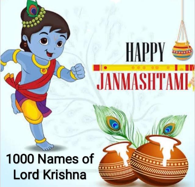 1000 Names of Lord Krishna..Different names of Lord Krishna.