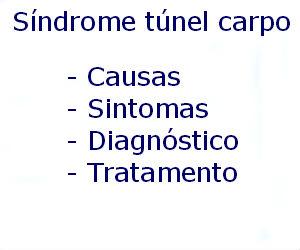 Síndrome do túnel do carpo causas sintomas diagnóstico tratamento prevenção riscos complicações