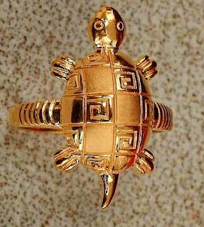 Gold kachua Tortoise finger Ring for man | Fdbnj