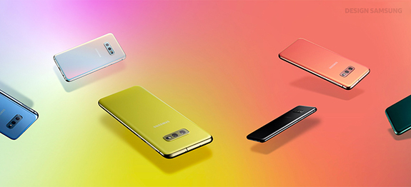 The Samsung Galaxy S10 line uses innovative design with bright, prism colors to attract a new generation of Millennials and Gen Z consumers.