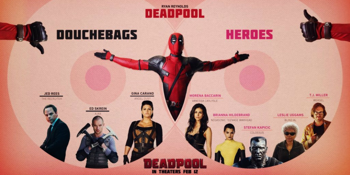 Deadpool Infographic - Douchebags and Heroes
