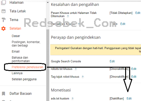 Cara Upload Ads.txt Ke Blogger