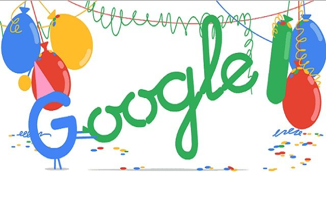 Google Doodle on 18th Birthday 2016