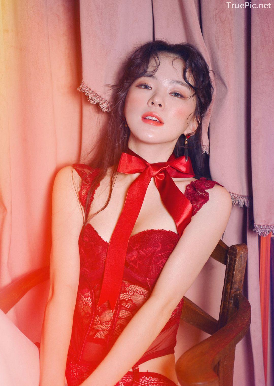 Korean lingerie queen Haneul - Valentine Sexy Lingerie Set - TruePic.net - Picture 3