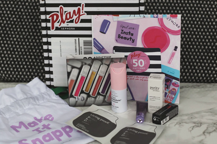 Beauty Blogger, College Blogger, Lifestyle Blogger, Sephora Box Review, Discounted Makeup, Drunk Elephant TLC Babyfacial, Urbay Decay Hi-Fi Lip Gloss, Peter Thomas Roth Skin to Die for Primer, Philosophy Purity Exfoliating Clay Mask, Sephora Collection Rouge Cream Lipstick, Living Proof Phd Shampoo and Conditioner