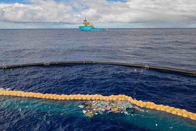 Plastico recolhido pela Ocean Cleanup