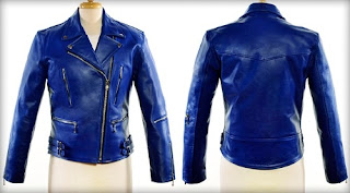 Gambar Blue Leather Jacket