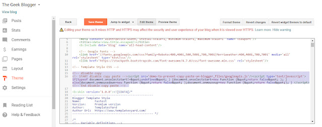 How to disable Copy/Paste in Blogger or website?