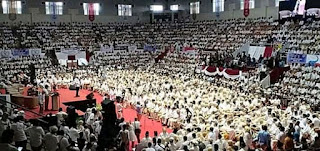 Ribuan hadiri deklarasi dukungan apsti kepada prabowo sandi