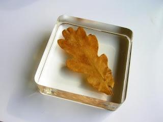 Oak leaf paperweight