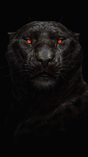Black Tiger Glowing Eye