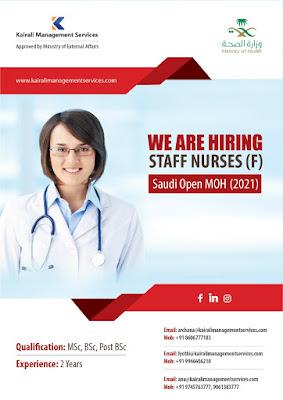 Staff Nurses For Saudi Open MOH (2021)