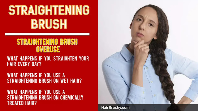 What happens if you straighten your hair every day?