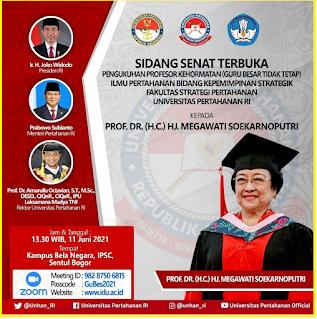 Ibu Megawati Soekarnoputri Dikukuhkan Menjadi Guru Besar
