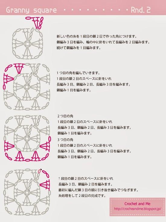 グラニースクエアの編み図2