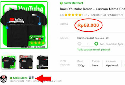 kaos youtube custom satuan murah berkualitas