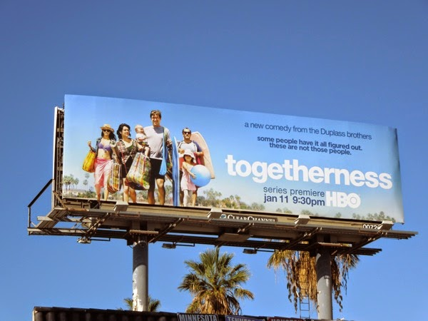 Togetherness series premiere billboard