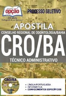 Apostila Concurso CRO-BA 2017 Técnico Administrativo