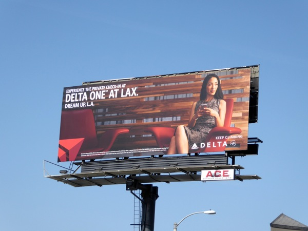 Delta One LAX billboard Sunset Strip