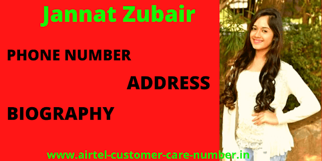Jannat Zubair Rahmani Contact  Details, Address, Phone Number, Email ID, Website And More