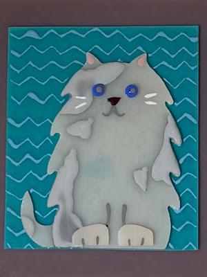 How to Paint Enamel Fused Glass Cat 1 CFE Sharon Warren Glass sharonwarrenglass flutterbybutterfly
