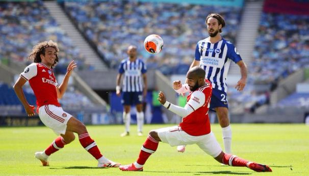 Highlights Liga Inggris: Brighton & Hove Albion vs Arsenal