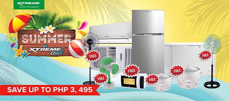 FREE Appliances up for grabs on 2021 Summer is XTREME Cool promo